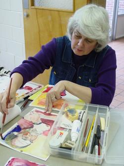 Regina working on her painting At the Trenholm Workshop.jpg