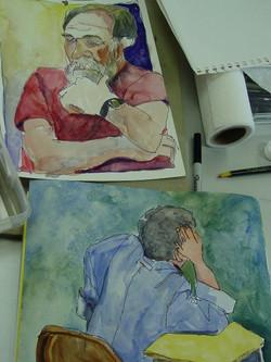 Student contour paintings in the Trenholm Workshop.jpg