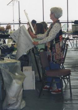 Jackie working on her painting at the Springmaid workshop.jpg