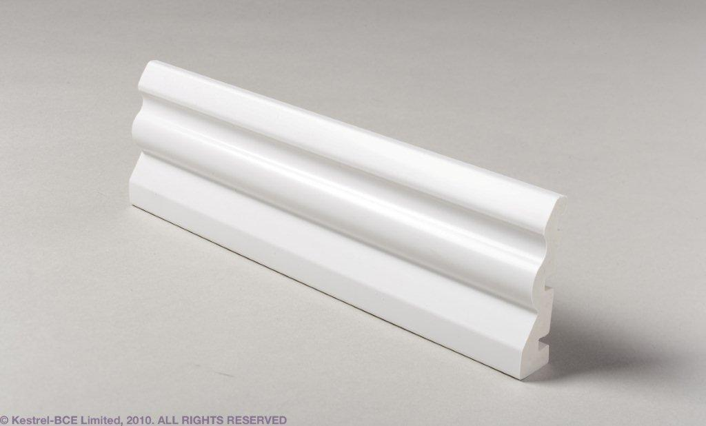 UPVC ARCHITRAVE WHITE