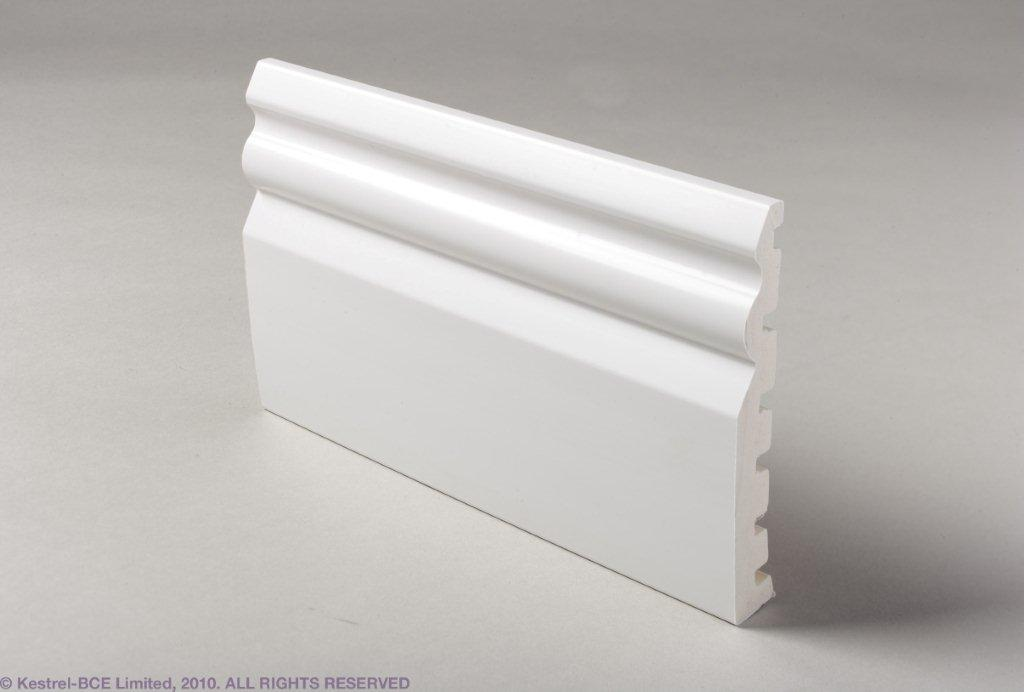 WHITE uPVC SKIRTING