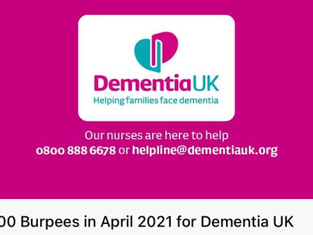 2000 Burpees for Dementia UK