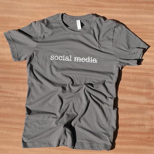 More Social Less Media Cotton T-Shirt