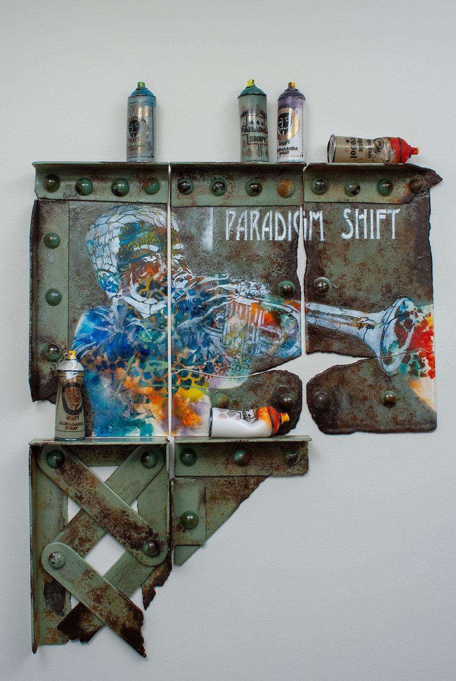 "Contemporary Glass Art Street Art ""Excessive Noise"""