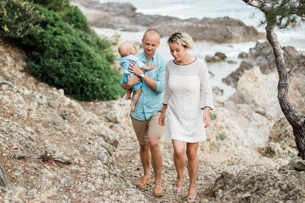 Séance famille à Nice - bord de mer
