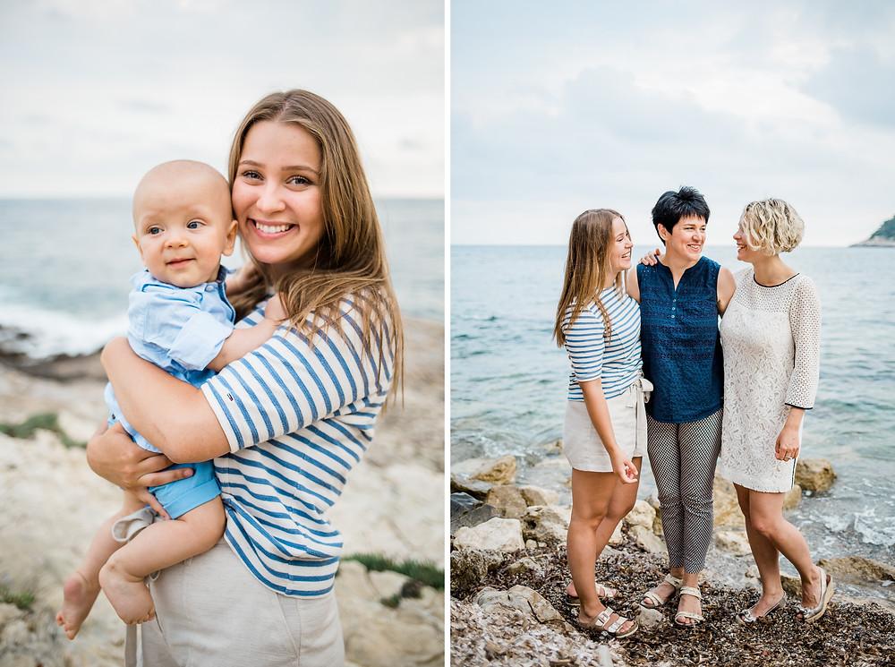 Séance photo famille à Nice - bord de mer