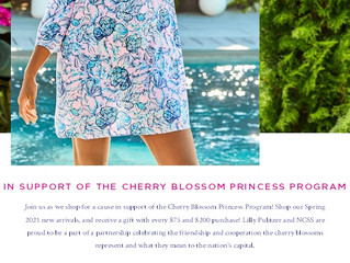 Shop for a cause with Lilly Pulitzer.  A fundraiser for the  Cherry Blossom Princess Program.