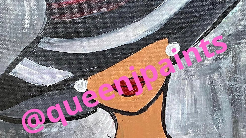 Lady in Hat Paint Kit (16x20)