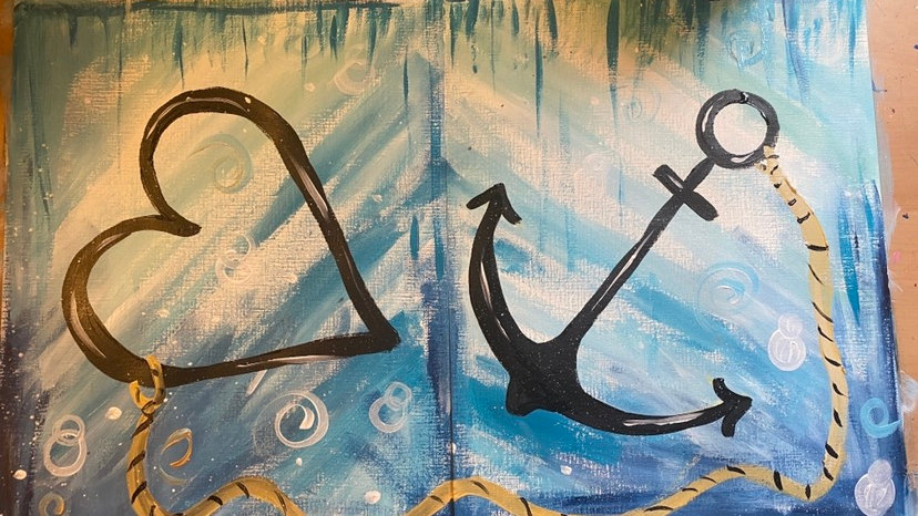 Anchored in Love 11x14 Paint Kit