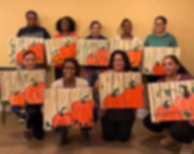 A Harvest theme paint night with Mozen M
