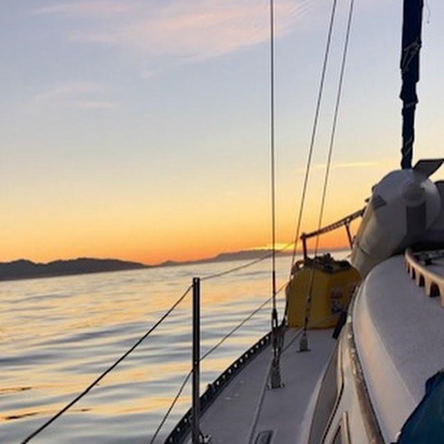 Sunrise aboard Journey