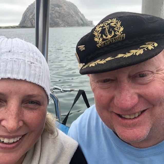 Matt and Julia in Morro Bay aboard Journey