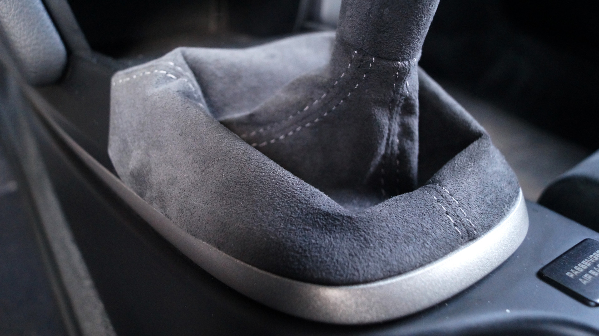 GT3 Alcantara Shift Boot Detail