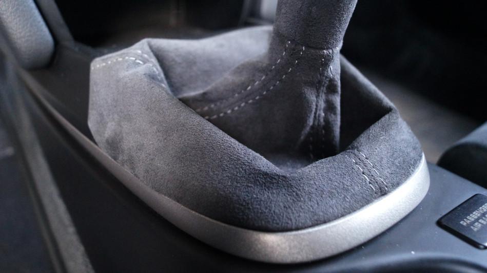 GT3 Alcantara Shift Boot Detail