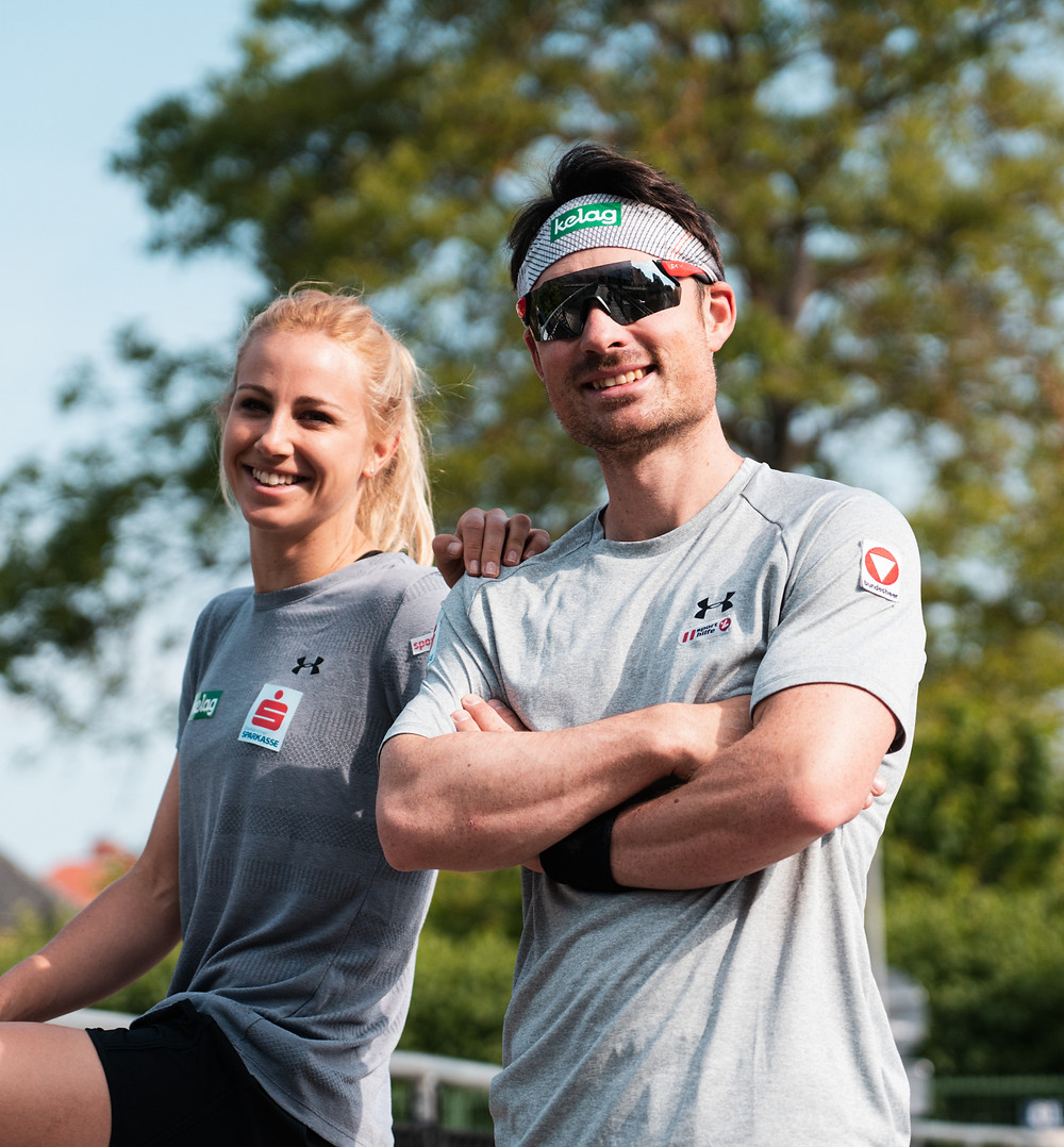 Alpine snowboarders Sabine Schöffmann and Alexander Payer are both professionally and privately on the road to success
