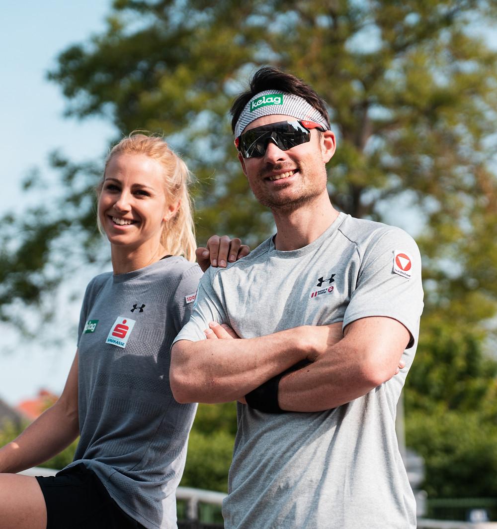 Die Alpinsnowboarder Sabine Schöffmann und Alexander Payer sind beruflich und privat auf der Erfolgsspur