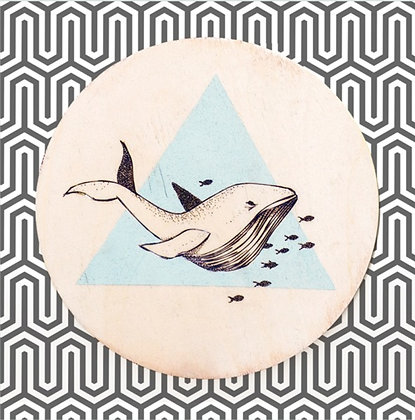 Carte postale Baleine