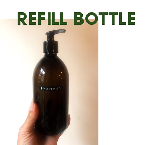500 ml brown glass bottle with pump