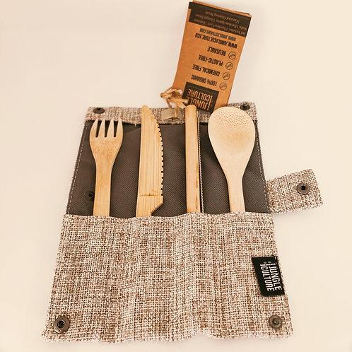 Bamboo Cutlery Set - Jungle & Culture