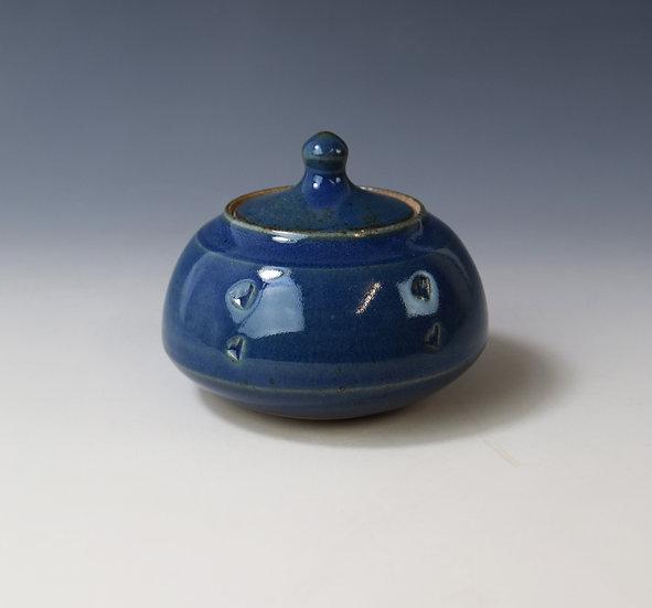 Cobalt blue lidded box