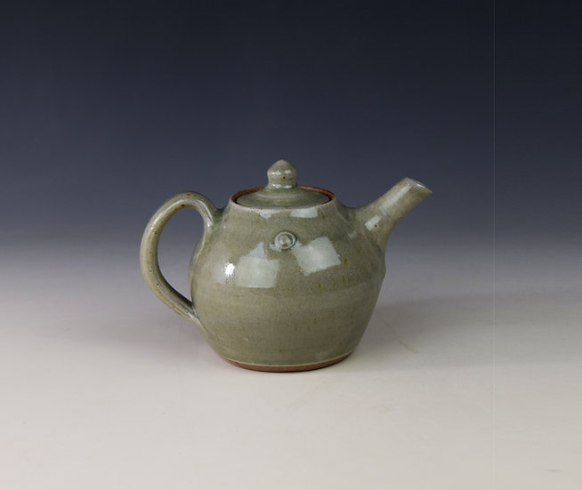 1-person teapot in celadon ash glaze