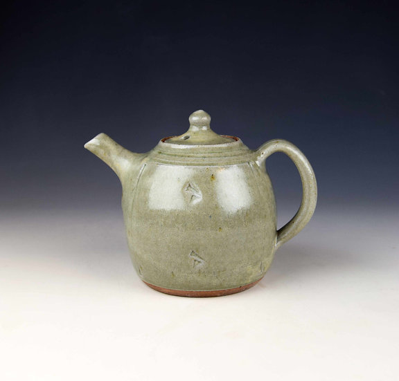 1-pint celadon teapot by John Jelfs