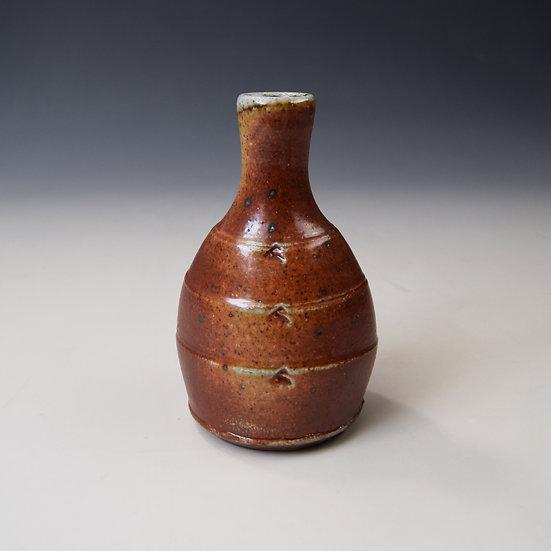 Soda fired bud vase