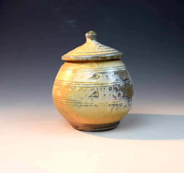 Squared Soda fired store jar