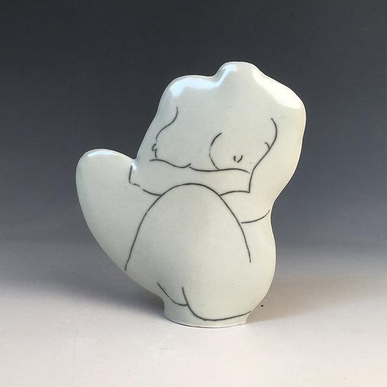 Porcelain Seated Torso