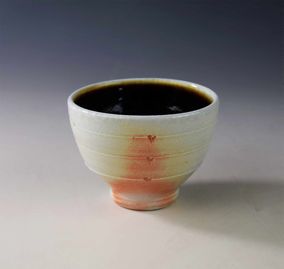 Porcelain soda-fired yunomi (tea bowl)