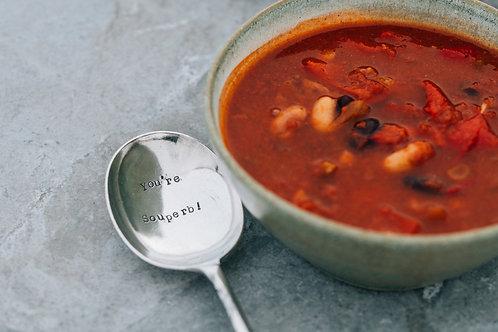 You're souperb! soup spoon