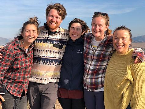 Naturalists on Walker Peak