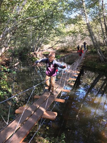 Student on a bridge