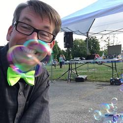 #bubbles #presswoodmagic. #bumblingbert