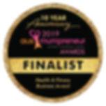Ausmumpreneur finalist badge health & fitness