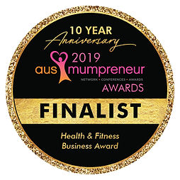 Ausmumpreneur finalist badge health & fitness