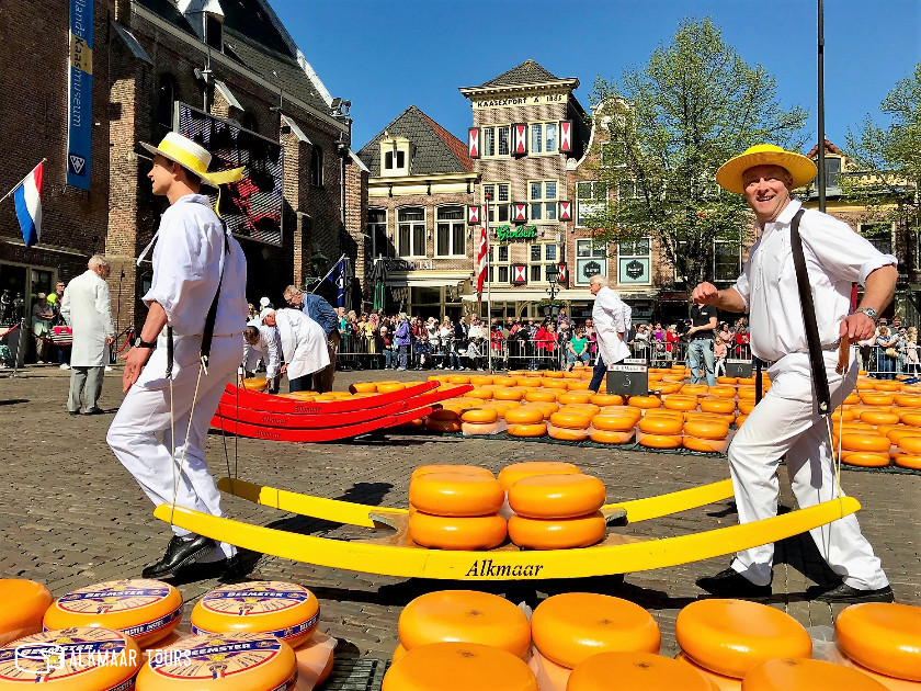 Cheese Carriers at the Alkmaar Cheese Market