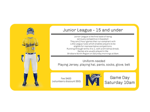 Junior League 15 and under