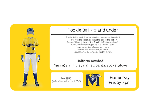 Rookie Ball 9 and under