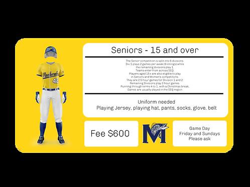 Seniors - 15+