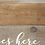 "Thumbnail: Distressed ""Love Lives Here"" Metal & Wood Tray"