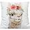 Thumbnail: Boho Flower Llama Indoor / Outdoor Pillow