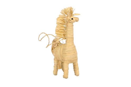 Natural Raffia Giraffe Ornament