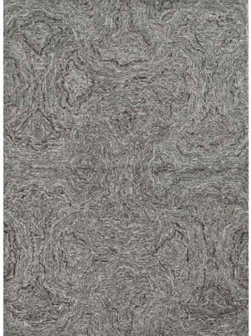 Grey Wool Viscose Rug