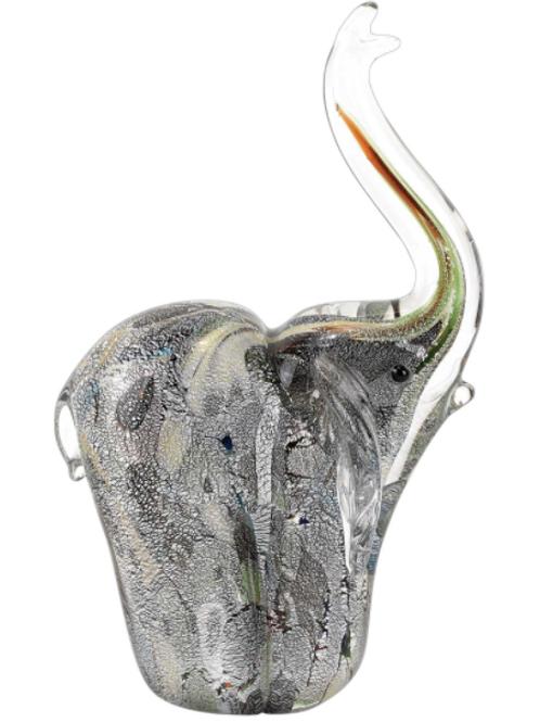 Silver Elephant Art Glass