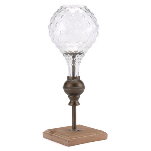 Brass Candle Holder with Globe (Small)