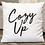 Thumbnail: White Cozy Up Square Pillow