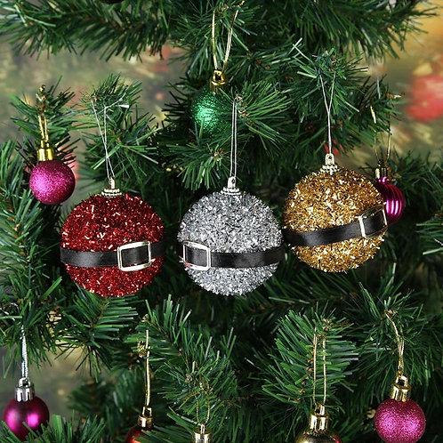Christmas Belt Buckle Glitter Tree Decor