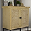 Thumbnail: White Washed Parquet Sideboard