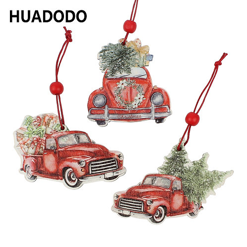 Christmas Truck Wooden Ornaments